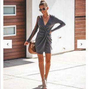 Size S VICI Ribbed Twist Dress